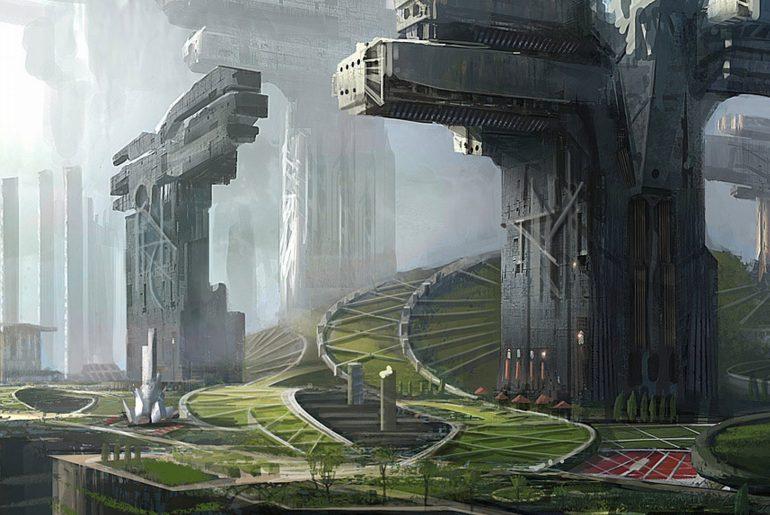Future Sci Fi City
